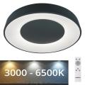 Rabalux - LED-himmennettävä kattovalaisin LED/38W/230V musta + kaukosäädin 3000-6500K
