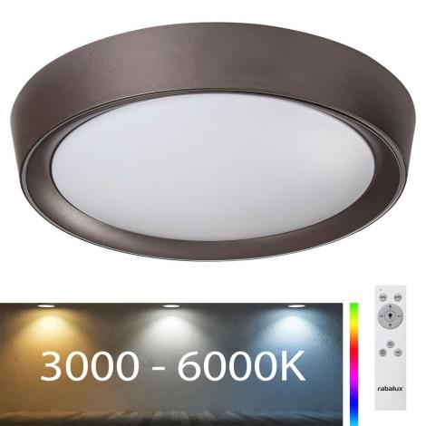 Rabalux - LED RGB himmennettävä kattovalaisin LED / 24W / 230V + RC 3000-6000K