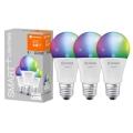 SETTI 3x LED RGBW Himmennettävä lamppu SMART+ E27/9W/230V 2700K-6500K Wi-Fi - Ledvance